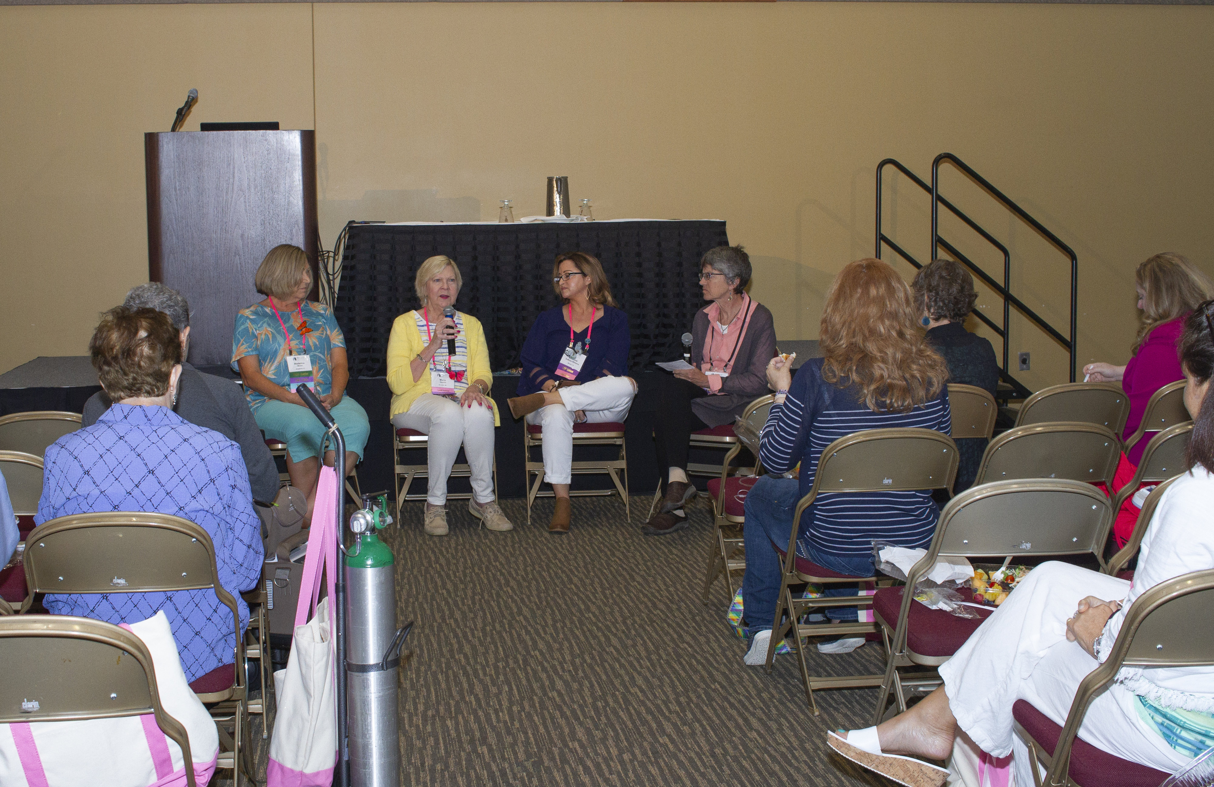 Circle of Hope patients meet to share experiences at LAMposium 2018.